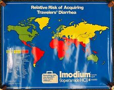 Vintage 1981 Imodium Travel Poster Funny Map