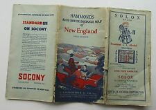 C.S. Hammond & Co. Inc Auto Route Distance Map Of New England 1928
