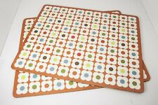 Orla Kiely Set of 2 Abacus Cork Backed Placemats