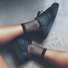 Women Black Fishnet Ankle High Socks Lady Mesh Lace Fish Net Short Sock BDAU