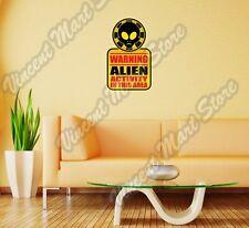 "Warning Alien UFO Activity In Area Wall Sticker Room Interior Decor 18""X25"""