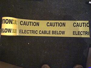 Electric Underground Warning Tape 150mm x 20mt