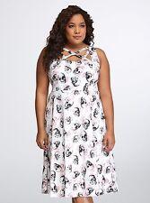 TORRID Plus Size 18 SKULL Dress Gorgeous Roses New