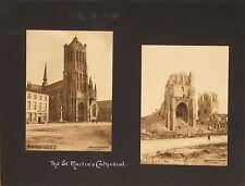WORLD WAR l ~ YPRES~YSER RIVER~DIXMUDE~ZEEBRUGGE~BELGIUM~(47 PHOTOS) -1914-1919