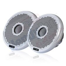 "FUSION MS-FR6021 MARINE 6"" 2-WAY 200W SPEAKERS BOAT AUDIO WHITE & BLACK GRILLES"