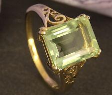 hermosa Anillo 375 Oro Amarillo Con Un verdes Piedra de color tamaño 63