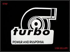 Turbo Power And Response Auto Car Van Window Bumper Vinyl Decal Graphic Sticker