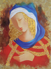 """ARBE """"MAIDEN IN RED"""" L/E S/N 16"""" x 20"""" Giclee Canvas w/Gold Leaf List $1800"""