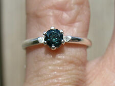 .25ct SPARKLING NATURAL BLUE DIAMOND RING SOLITAIRE,CLEARANCE ITEM,sz5 resizeabl