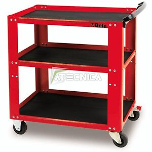 Carrello Beta C51 colore rosso portautensili portattrezzi 3 ripiani 200kg