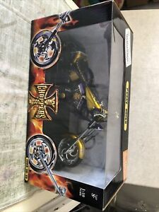 West Coast Choppers 1:10 Scale Jesse James, Penny Saved Yellow Rare New