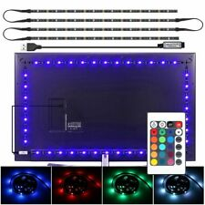NEW 4X USB Powered RGB LED Strip Lighting for TV Computer Background Light