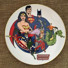 DC SUPER HEROES SERIES JUSTICE LEAGUE AMERICA COLLECTOR PLATE NUMBERED #717