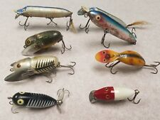 Vintage Heddon Lot of 8 fishing lures Antique Rare Unique