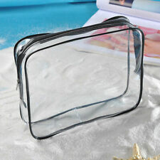 Clear Waterproof Cosmetic Toiletry PVC Organizer Zip Travel Makeup Bag Pouch Kit