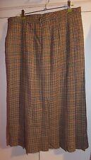 Honey Mix Plaid Check New Wool Ladies Skirt size 18 M&S vintage BNWT