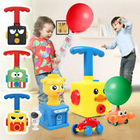Inertia Balloon Launcher & Powered Car Toy Set Toys Gift For Kids Experiment ABS