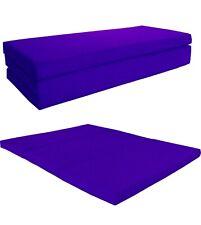 Queen Shikibuton Trifold Foam Beds, High Density Folding Mats 4x60x80, Purple