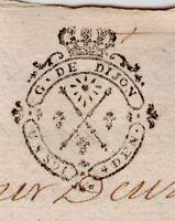 Dijon 1734 cachet généalogie familles ROQUILLAT MASNER DAGONNET DUBOIS CLERC