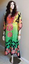 Kaftan embellished dress Printed  cover up sheer Dress dolman sleeves one size