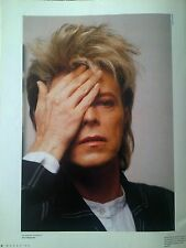 David Bowie Summer 1987 Photo Shoot 25 x 18cm Page From Music Supplement