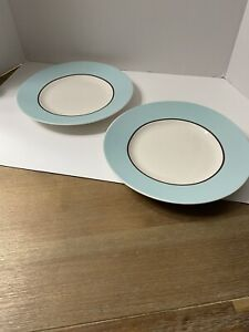 """222 Fifth 'Symphony Blue' Set of Two 9"""" Salad Plates"""