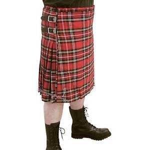 By MMB Scottish Kilt Herren Schottenrock Rot Tartan Schotten Rock kariert Karo