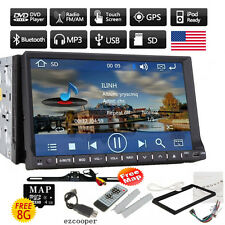 """HD 7""""Touch Screen Double 2DIN Car GPS Stereo DVD Player Bluetooth Radio+free CAM"""