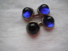 """Vintage """"Sapphire"""" (Lucite?) Button Cufflinks - 1930's"""
