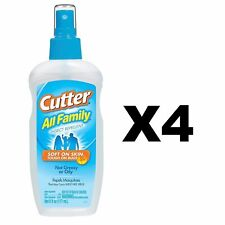 Cutter All Family Insect Repellent 6 Ounce Pump Spray 7% DEET Mosquitoes(4-Pack)