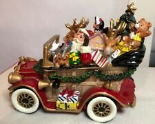 New Fitz & Floyd Santa's Classic Car Musical Plays We Wish You Merry Xmas On/Off
