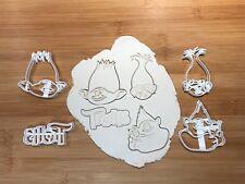 Trolls Conjunto de 4 piezas Cookie Cutters Decoración Pastel Fondant Cupcake y Reino Unido