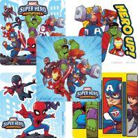 Marvel Superhero Stickers x 5 - Birthday Party Favours - Adventures Marvel Loot