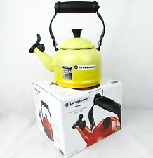 Le Creuset 1.1L Traditional Whistling Stove Top Kettle BRAND NEW Yellow