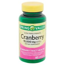 SPRING VALLEY ULTRA TRIPLE STRENGTH CRANBERRY CAPSULES 15,000mg 60ct