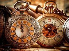 Fotografía composición Vintage antiguo Relojes De Bolsillo Recargado Poster mp3453a