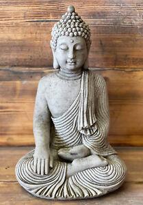STONE GARDEN LARGE MAZE ROBE BUDDHA NATURAL GIFT CONCRETE ORNAMENT