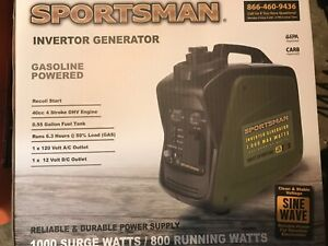 Sportsman 1000 Watts Gasoline Powered Portable Inverter Generator GEN1000i