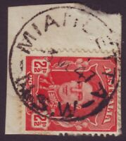 """NSW POSTMARK """"MIANDETTA"""" DATED 1947 ON 2-1/2d KGVI (A10701)"""
