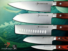 Japanese Vg10 Steel Chef's Nakiri Santoku Fruit Paring Knife Cutlery Set Clasic