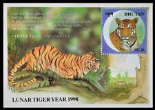 156. BHUTAN 1998 STAMP M/S LUNAR TIGER  YEAR . MNH