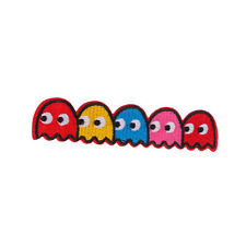 """Pac-man Ghosts Blinky Pinky Inky Clyde Embroidered Iron On On Patch 4.3""""x1.0"""""""