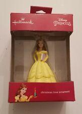 Hallmark Disney Princess Beauty and The Beast Belle w/ Book Christmas Ornament