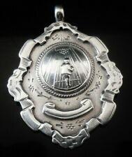 Silver Pocket Watch Fob Medal, FATTORINI 1933, Possibly Skittles?