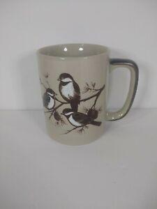 Otagiri Japan Chickadee Ceramic Coffee Mug Cup Embossed