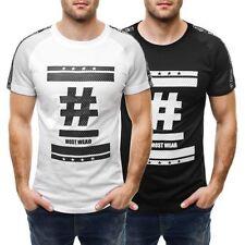 Herren-T-Shirts mit Rundhals und Motiv Basic