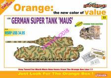 "DRAGON 1/35 9133 German Super Tank ""Maus"" + German Tank Hunters Figure Set"
