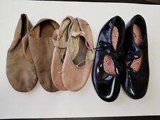 Youth capezio dance shoes lot, ballet, jazz, tap