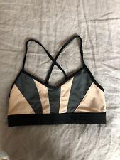 Alo Yoga Strappy Sports Bra: Size XS: Black And Peach And Gray
