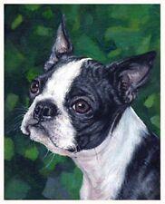 artav Boston Terrier 3 Art Print of Original Oil Canvas